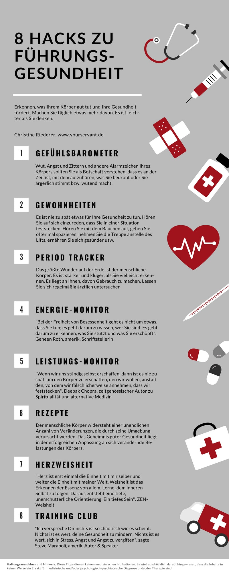 8 Hacks für Führungsgesundheit
